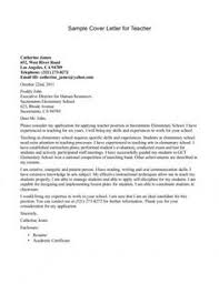 Elementary School Arts Cover Letter For Resume Template Teaching