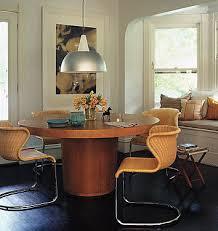 crate barrel dining table 60 orion nova light oak modern ebay