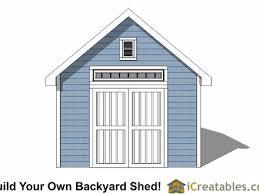 12x12 gable storage shed plan 16u0027 x 12u0027 gable storage