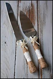 Rustic Country Wedding Burlap Twine Knife And Cake