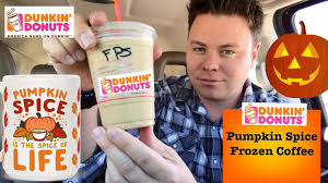 Dunkin Donuts Pumpkin Latte 2017 by Dunkin Donuts Pumpkin Spice Frozen Coffee Taste Bud Review Youtube