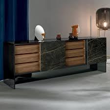 wohnzimmer sideboard mit 2 türen in keramik und rauchglasstruktur made in italy scocca