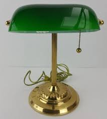 Bankers Table Lamp Green by Vintage Brass Bankers Desk Library Students Lamp Green Glass Shade