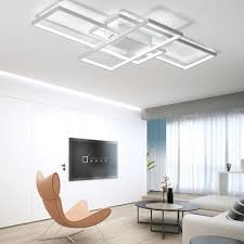 13 Modern White LED Flush Mount Ceiling Light Square Combination Shape For Living Dining Room Bedroom