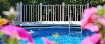 Above Ground Pool Ladder Deck Attachment by Best Pool Ladders And Steps In Tampa Fl