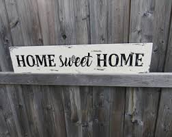 Home Sweet Farmhouse Sign Rustic Modern