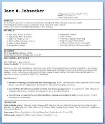 Software Testing Resume Samples For Experience Engineer