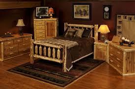 Image Of Log Rustic Queen Bedroom Sets