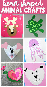 Cutest Heart Shape Animal Crafts For Valentines Day Kids Will Love Making These Easy Paper Art Projects