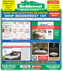 ads and deals bedderrest mattresses and furniture for less