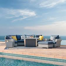 Sirio Patio Furniture Covers by Regency 9 Piece Seating Set With Fire Table By Sirio