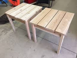 Diy Simple Wooden Desk by Simple Outdoor Side Table Rogue Engineer