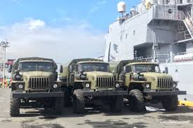 100 20 Trucks Russia Donates New Military Trucks Weapons Flying Ketchup