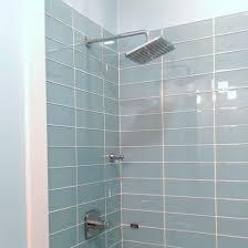 lush 4x12 vapor light blue glass subway tile shower