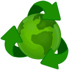 Green Earth Planet with Recycle Symbol PNG Clip Art Best WEB Clipart