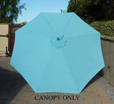 9 Ft Patio Umbrella Frame by Amazon Com 9ft Umbrella Replacement Canopy 8 Ribs In Light Blue