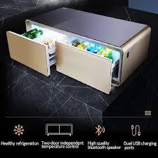 smart kombination möbel kühlschrank kaffee tische wohnzimmer möbel mit kühler und drahtlose lade