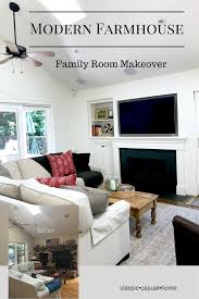 Living Room Makeovers Before And After Pictures by Modern Farmhouse Family Room Before And After Classic Casual Home