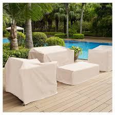 outdoor chair furniture cover cream crosley target