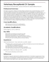 Veterinarian Resume Template Vet Nurse Sample Photo Gallery Of The