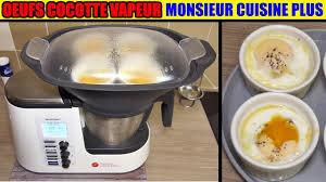 cuisine en cocotte œufs cocotte aux épinards monsieur cuisine plus thermomix cuisson à
