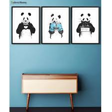 Hand Draw Panda Sketch Canvas Art Print Poster Minimalist Hipster Diy Painting Lovely Gift For Nursey