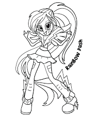 Coloring Pages Of My Little Pony Equestria Free Book Girl