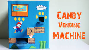 how to make a candy vending machine using cardboard at home easy