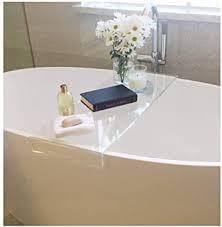 glas wandregal badewannenablage transparente multifunktions
