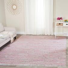 Safavieh Rag Rug Light Pink Multi 8 ft x 10 ft Area Rug RAR125E