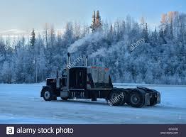 100 United Trucking USA States America Alaska Fairbanks Truck Winter Stock