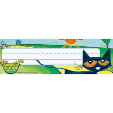 Pete The Cat Classroom Themes by Pete The Cat Nameplates
