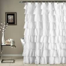 Gray Ruffle Blackout Curtains by Buy White Ruffle Curtains From Bed Bath U0026 Beyond