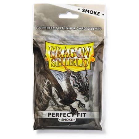 Dragon Shield Perfect Fit Inner Card Sleeves - Smoke, x100