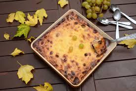 dessert aux raisins frais gâteau au raisin frais et fromage blanc au fil du thym