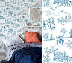chambre toile de jouy toile de jouy carnival bleu toile de jouy papier peint