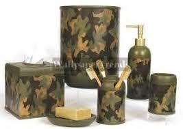 Realtree Camo Bathroom Set by Green Camo Bathroom Accessories Set Ceramic Camo Bathroom
