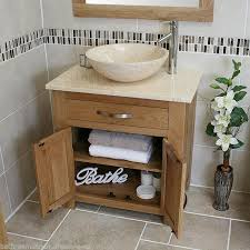 Ebay Bathroom Vanity Units by Bathroom Vanity Unit Oak Sink Cabinet Wash Basin Tap Option
