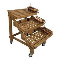 Bread Display Racks 12W Store Fixture For Displaying Bakery