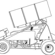 Sprint Car Coloring Page 3 Racing Pinterest