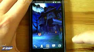 Halloween Live Wallpapers Android by Haunted House Hd Android Live Wallpaper On Samsung Galaxy S1 For