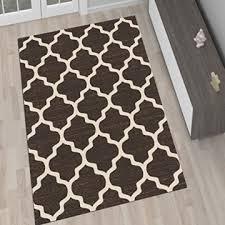 designer teppich wohnzimmer teppich braun mit modernen marokkanischen muster größe 80 x 150 cm