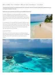 100 Rangali Resort Conrad Maldives Island Brochure Pages 1 20 Text