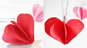 Paper Heart 3D For Decoration DIY Crafts