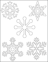 Snowflake Patterns To Cut Out Printable Unique Free Design Templates Paper P