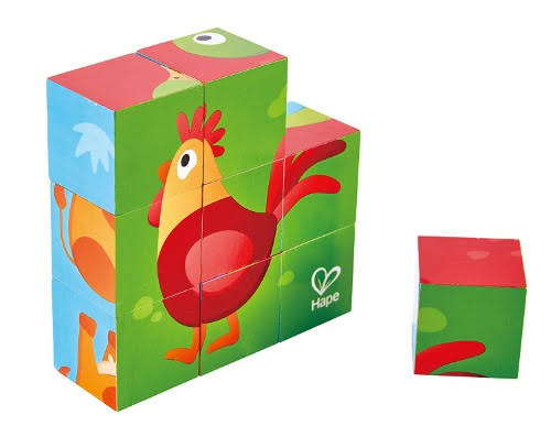 Hape Farm Animal Block Puzzle - 9pcs
