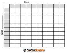 Free Printable Football Squares Grid