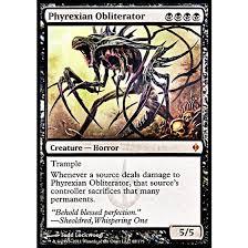 phyrexian obliterator foil english new phyrexia phyrexian