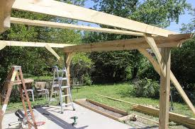 Free Standing Deck Bracing by How To Build A Pergola In Two Days On A Budget Detailed How To