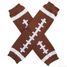 free ship baby christmas leg warmer baby brown football leg